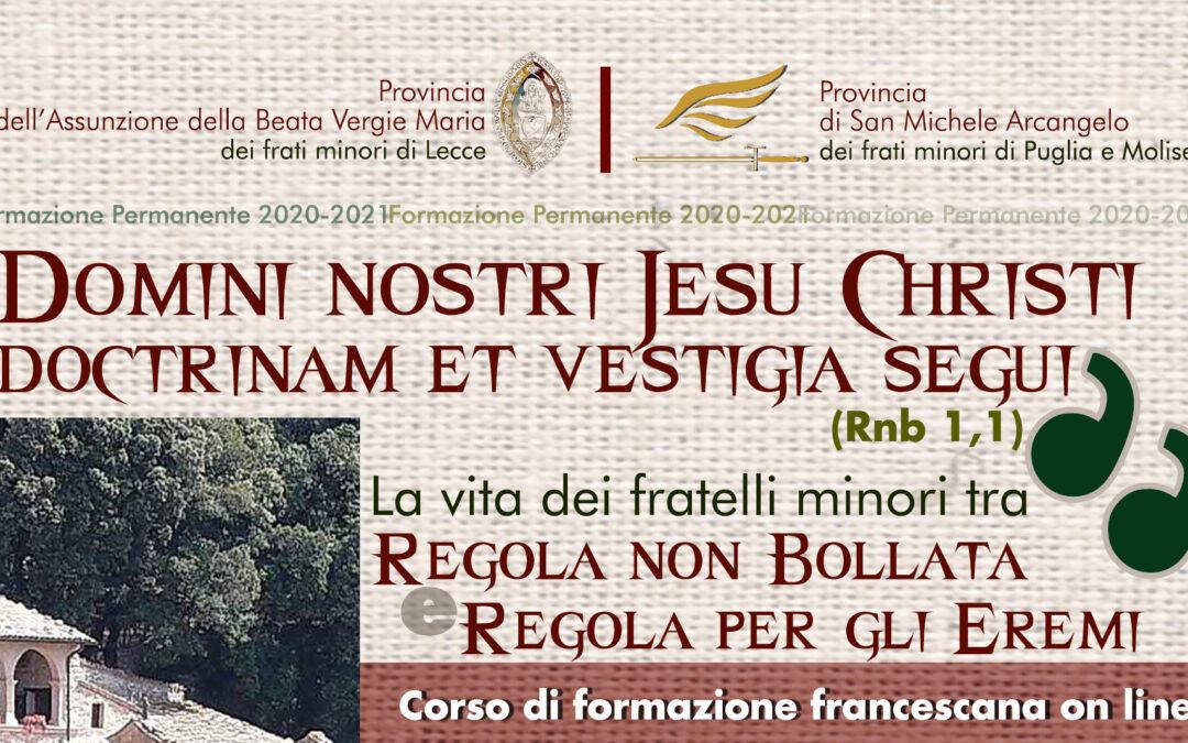 Corso di Formazione francescana on-line