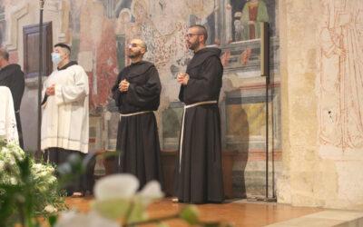 Professione temporanea di Fr. Tony D'Elia e di Fr. Daniele Colitta.