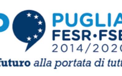 """""""Operazione cofinanziata dall'UE a valere sul POR FESR-FSE 2014/2020 della Regione Puglia – Asse VI – Azione 6.7 """"Interventi per la valorizzazione e fruizione del patrimonio culturale""""."""